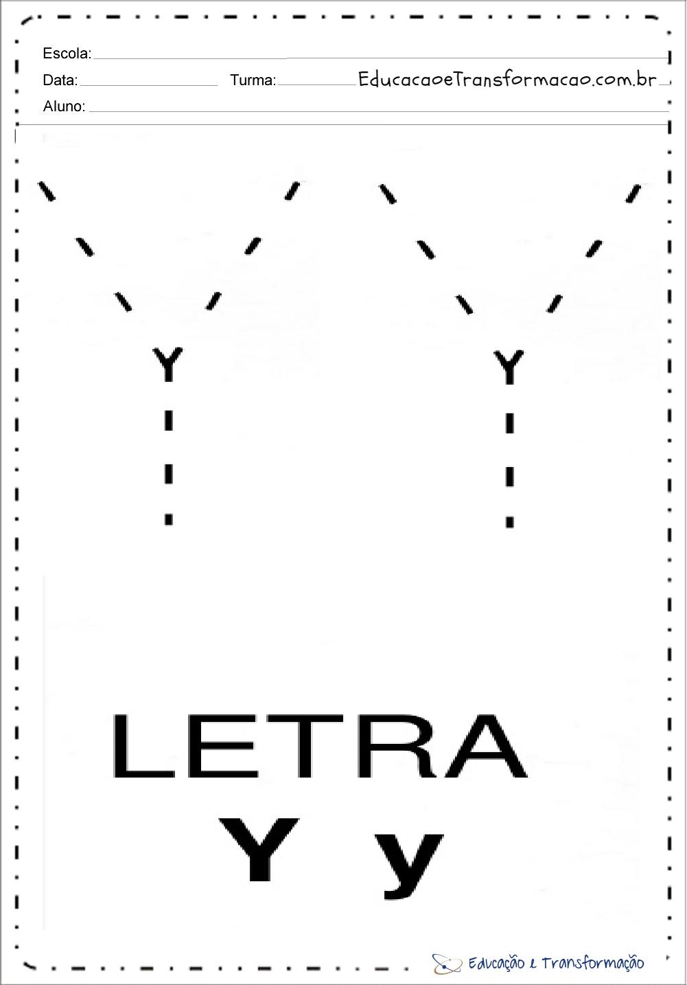 Atividades com a letra Y