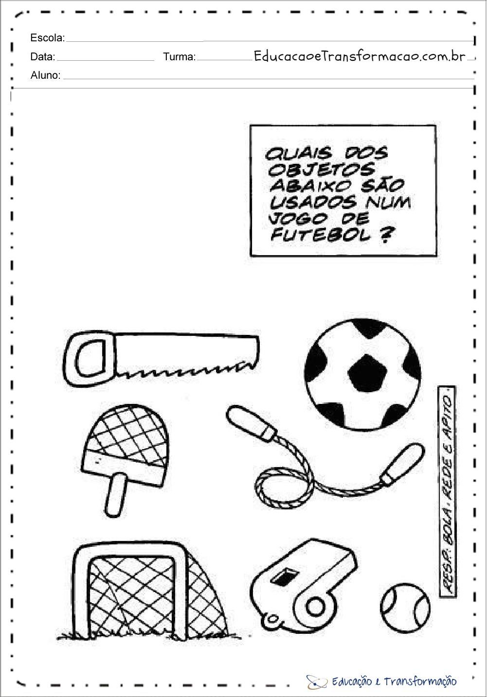 Atividades para Copa do Mundo – Objetos Futebol