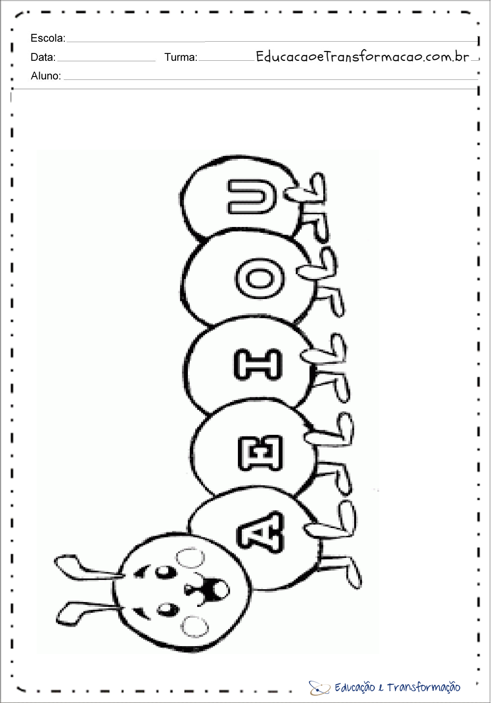 Centopeia das vogais