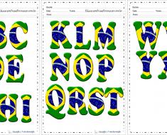 Moldes de Letras do Alfabeto do Brasil
