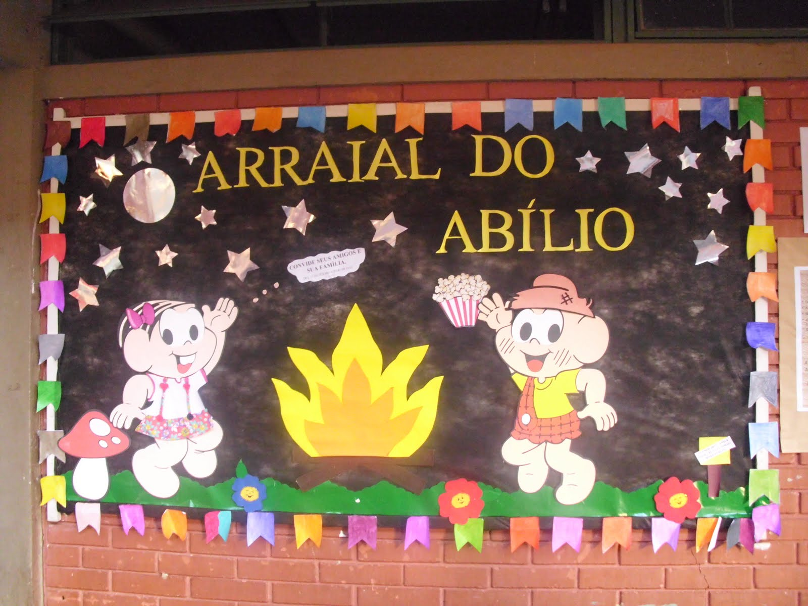 Mural Festa Junina em EVA para escola