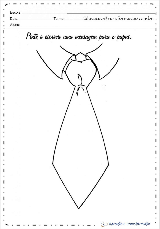 Lembrancinha dia dos pais em EVA - Camisa com gravata