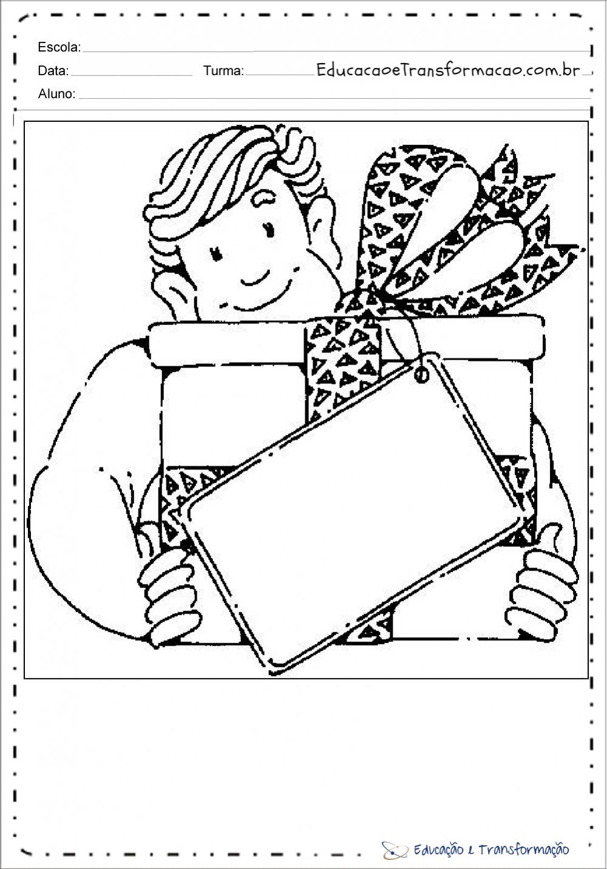 Atividades dia dos pais para colorir