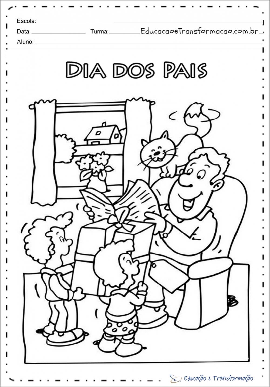 Atividades dia dos pais maternal e series iniciais