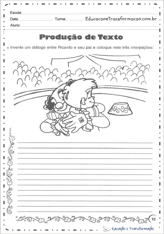 Atividades dia dos pais - Produção de Texto