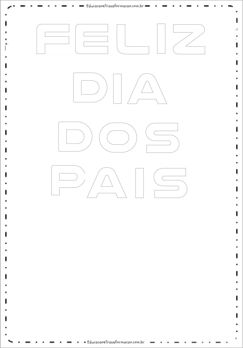 Moldes de Letras para o Painel Dia dos Pais em EVA