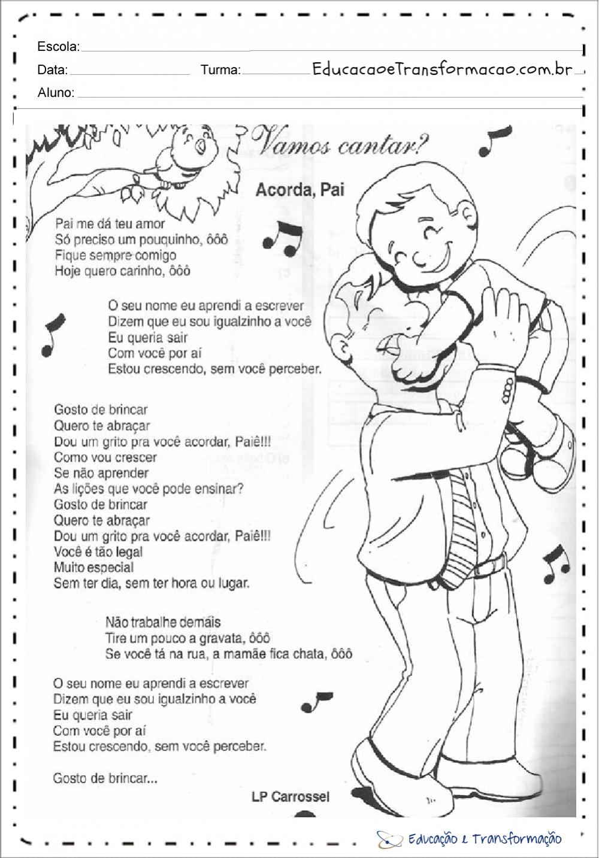 Musica dia dos pais para escola