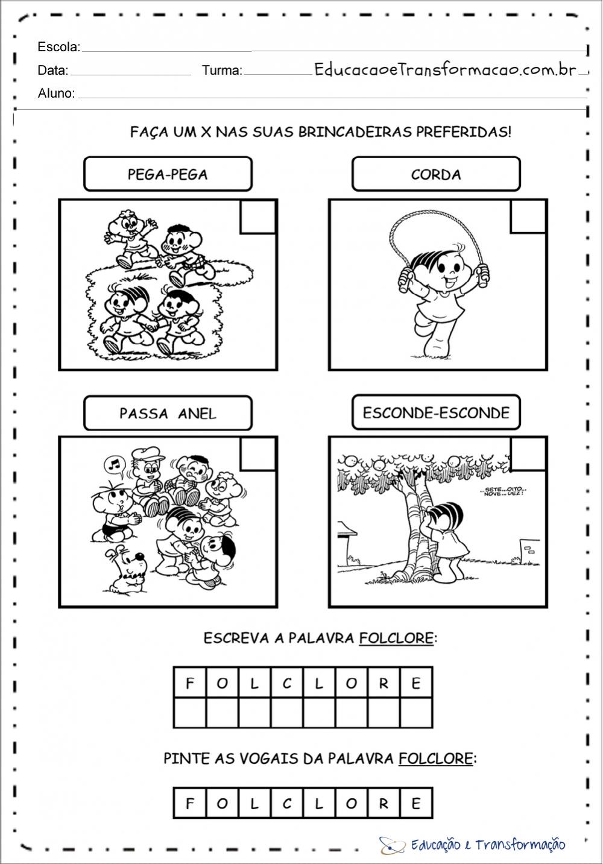 Atividades folclore educação infantil