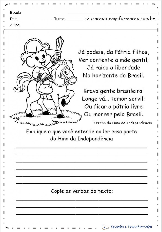 Atividades sobre independência do Brasil