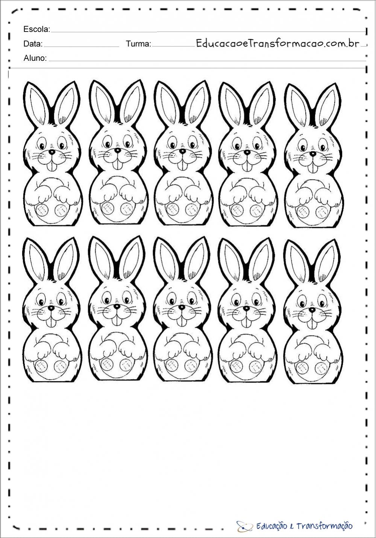 Desenho De Coelho Para Colorir E Imprimir Moldes De Coelhos