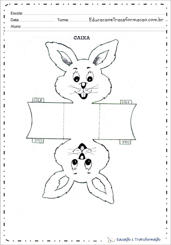 Desenho de coelho para lembrancinhas