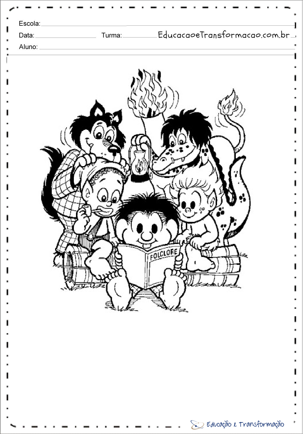 Desenhos Do Folclore Com A Turma Da Monica Para Imprimir
