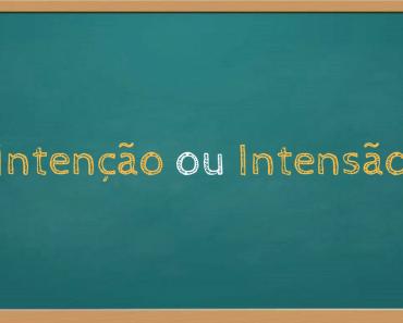 Intenção ou intensão