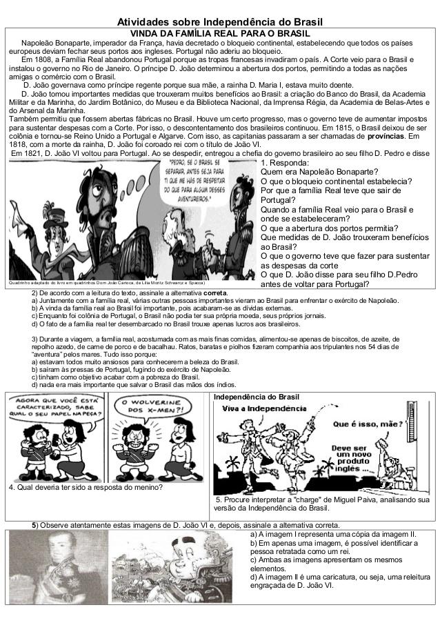 Atividades da independência do Brasil