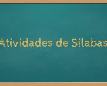 Atividades de silabas