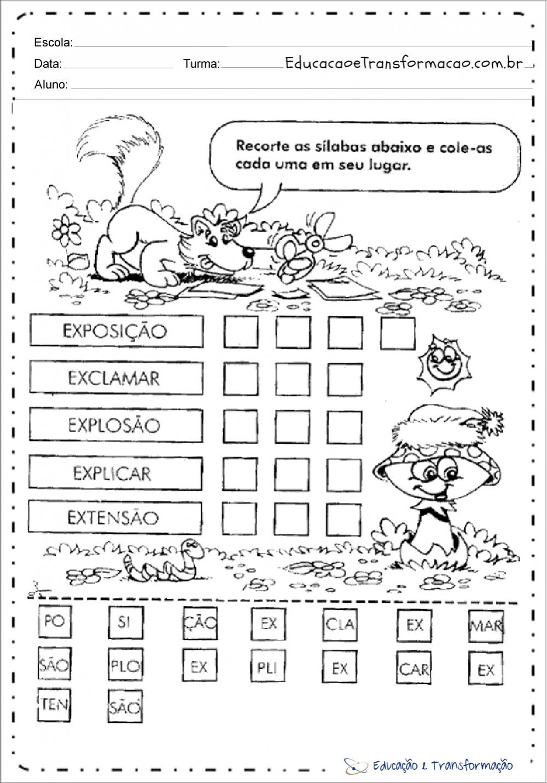 Atividades De Silabas Para Series Iniciais Atividades De Silabas