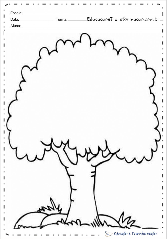 Atividades Dia da Árvore para colorir