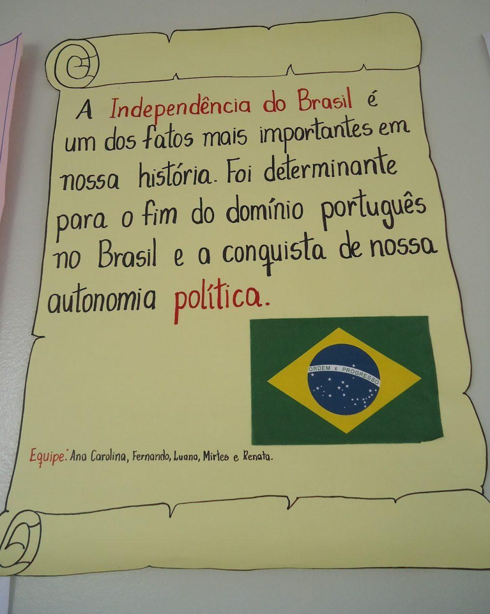 Cartaz Independência do Brasil