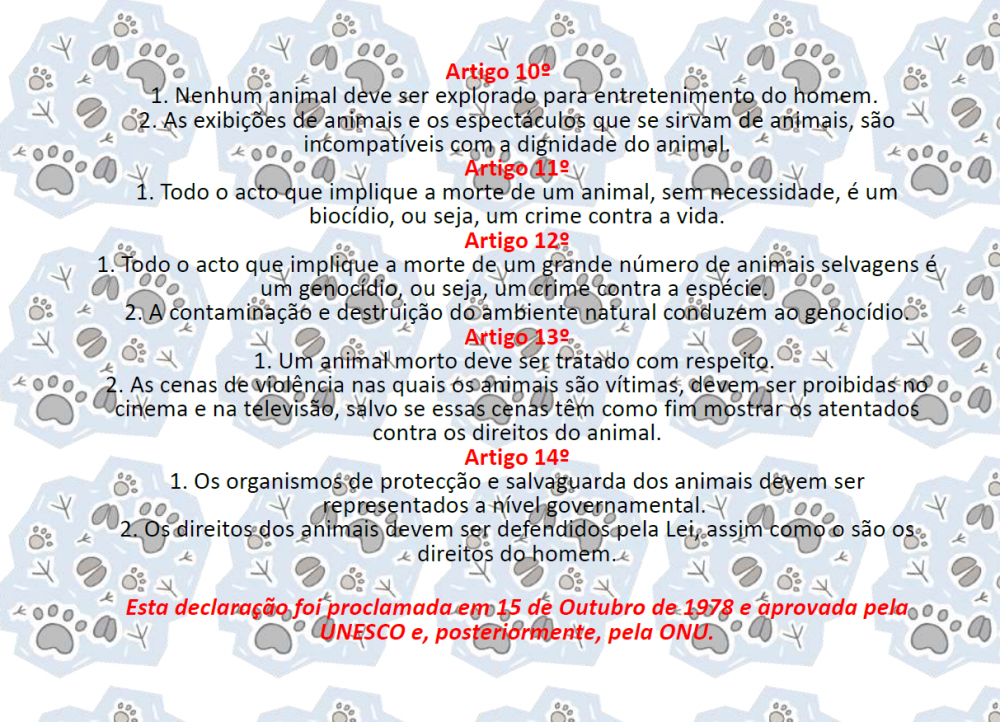 Dia Mundial dos Animais