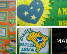 Mural independência do Brasil
