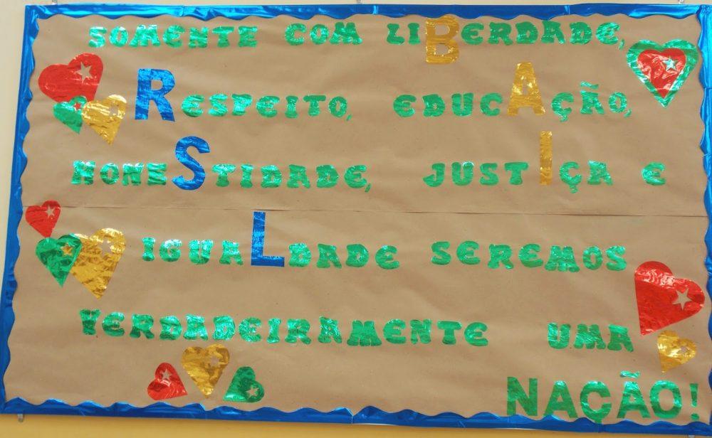 Mural independência do Brasil para escola