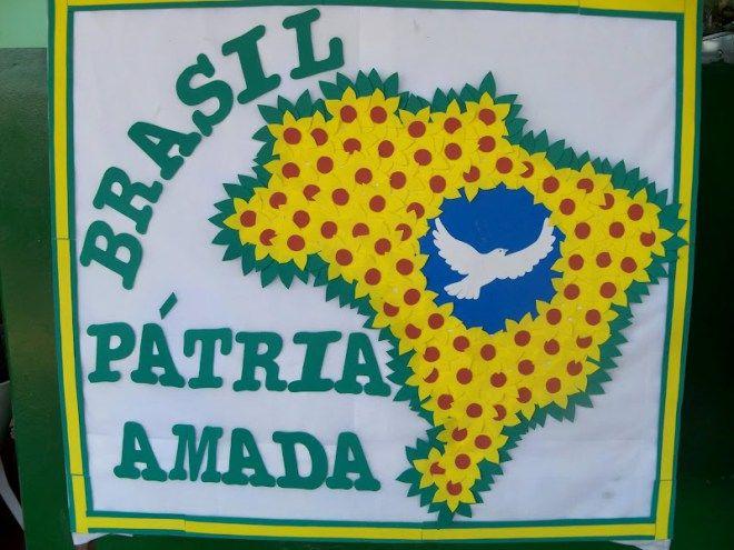 Painel independência do Brasil para escola