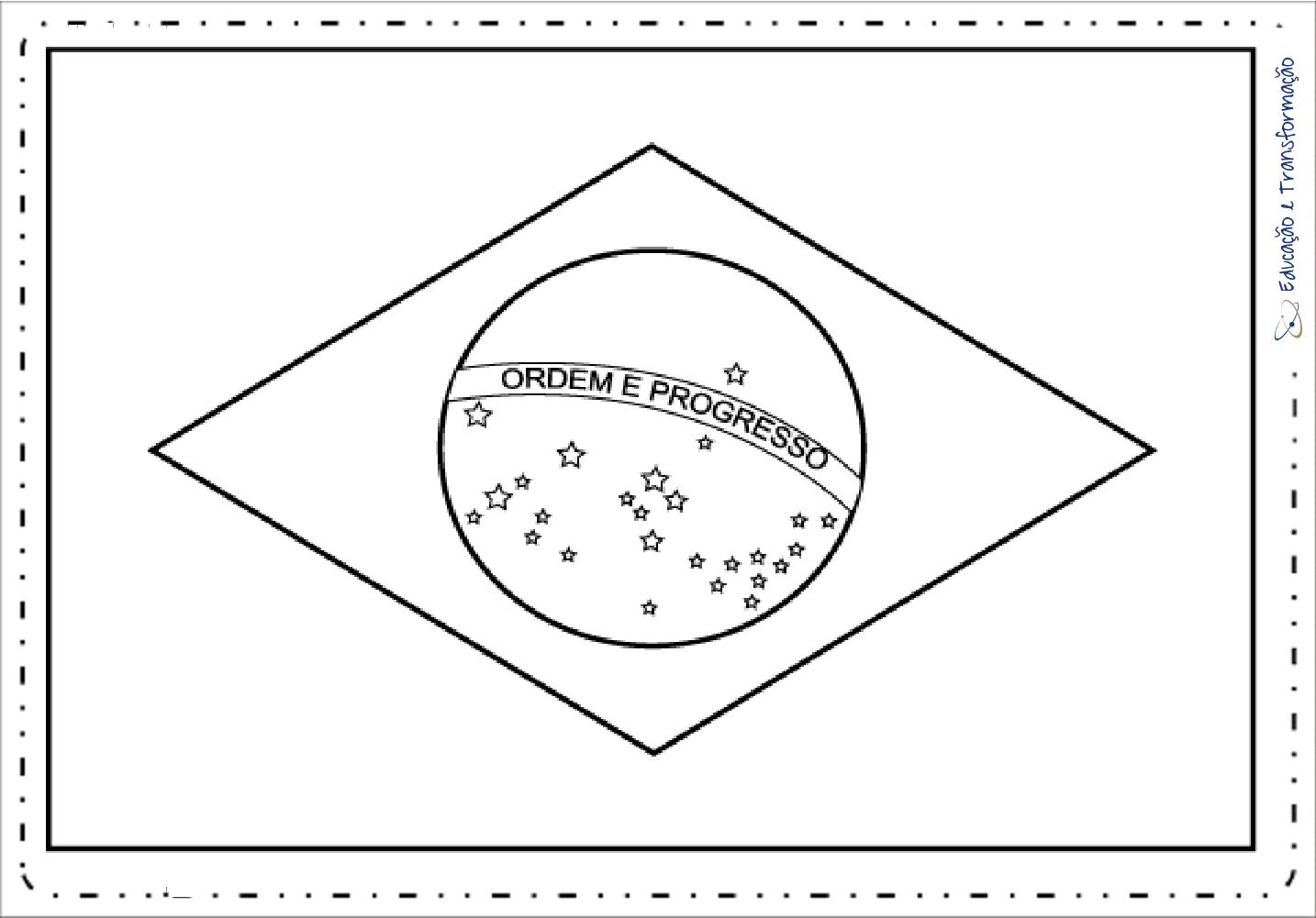 Desenho Da Bandeira Do Brasil Para Colorir Educacao E Transformacao