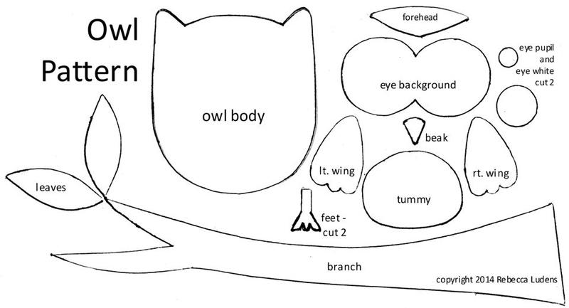 Molde coruja eva