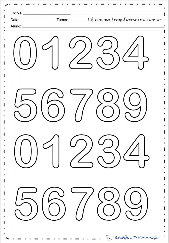 Molde de números