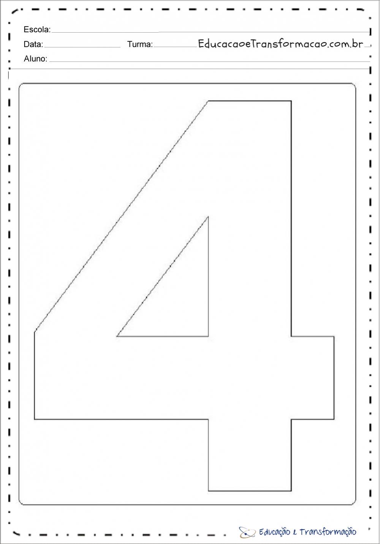 Molde de números grandes para imprimir