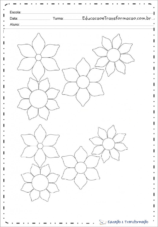 Moldes de flores em EVA para imprimir