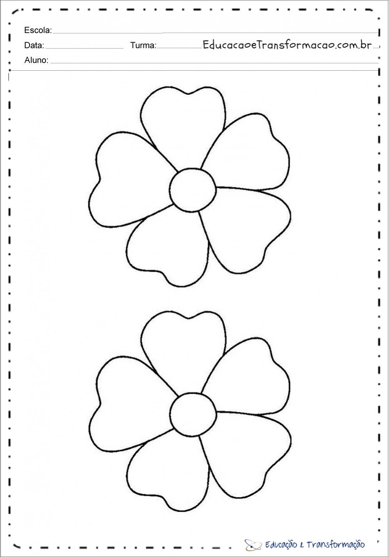 Moldes De Flores Em Eva Ou Feltro Para Imprimir