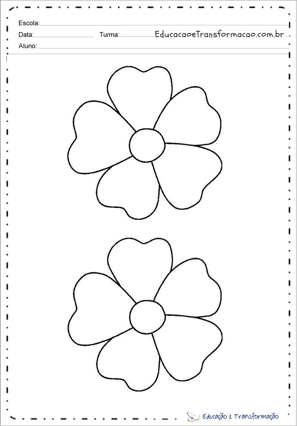 Moldes De Flores Em Eva Para Imprimir Educação E Transformação
