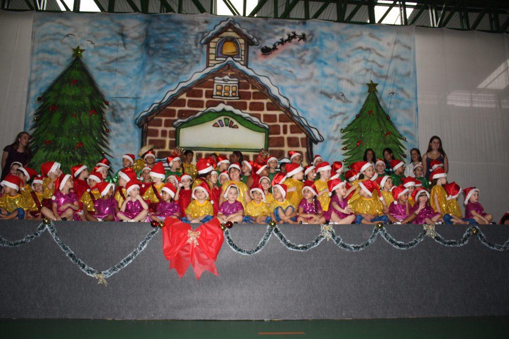 Mural de Natal para educação infantil em EVA ou FELTRO