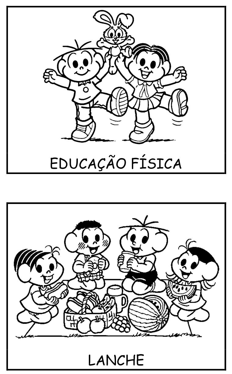 Fichas Com Rotina Escola Turma Da Monica 3 Educacao E Transformacao