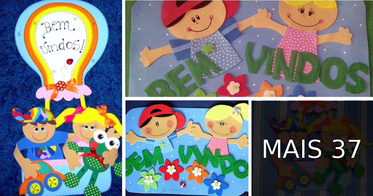 Painel De Bem Vindos Para Inicio Do Ano Letivo Volta As Aulas