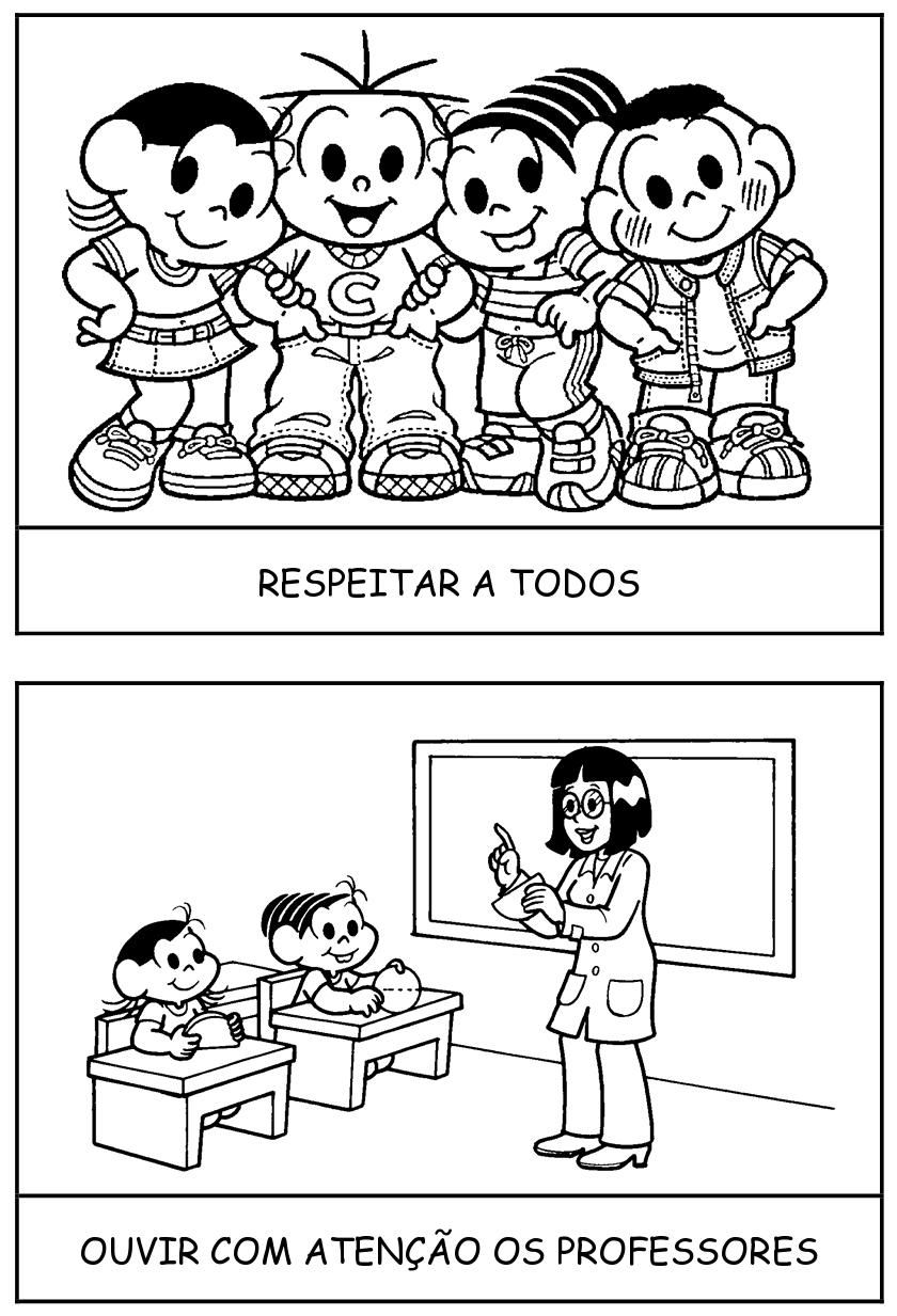 Rotina Escolar Com Personagens Da Turma Da Monica Educacao E