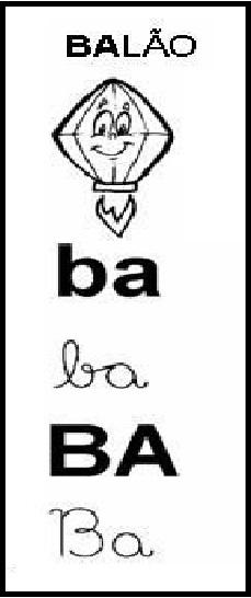 Palavra com BA - Balão