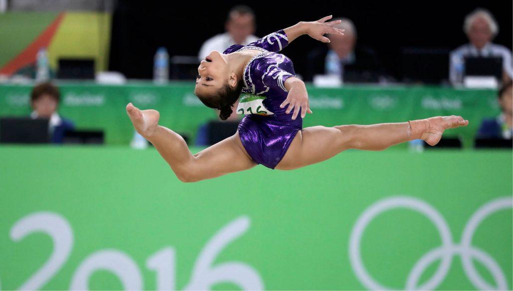 Mulher ginástica artística