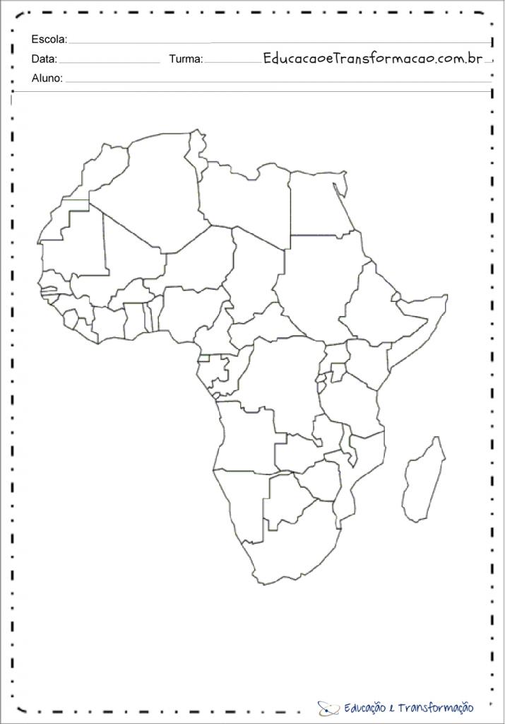 Mapa Da Africa Dados Geograficos Do Continente Africano