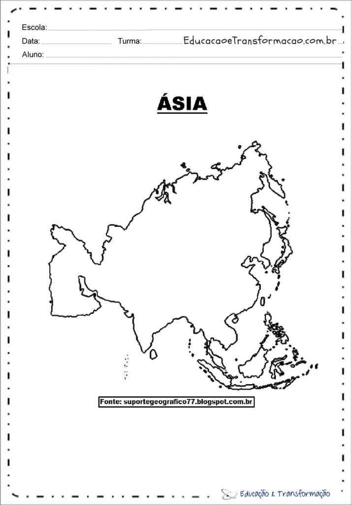 Mapa Da Asia Fisico Politico Climas E Divisao Regional Paises