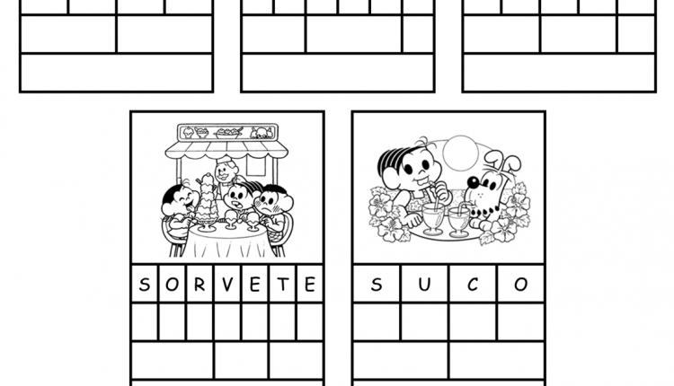 Atividades para imprimir – Complete o quadro com a letra (P, R e S)