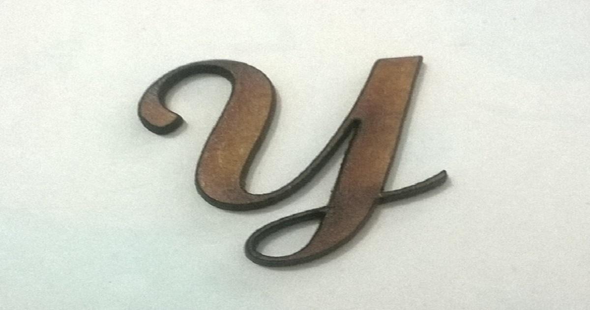 Letra cursiva y