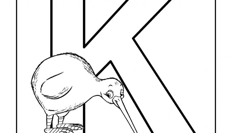 Alfabeto com animais – Letras do Alfabeto – K