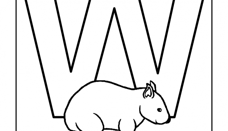 Alfabeto com animais – Letras do Alfabeto – W