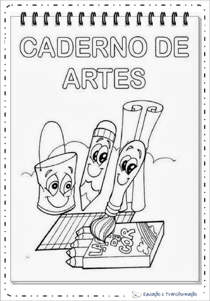 Capas de Caderno de artes