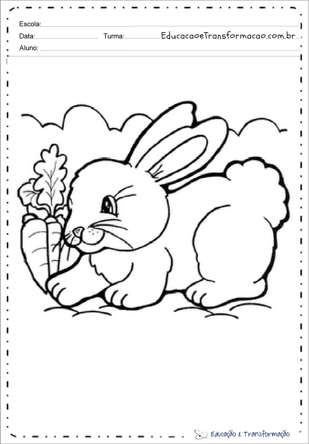 Coelho Para Colorir E Imprimir Desenhos De Animais Educacao E