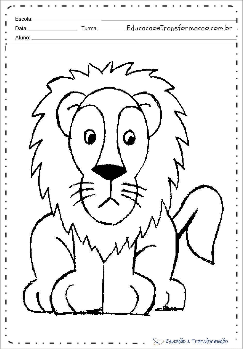 Desenhos De Leão Para Colorir E Imprimir Educação E