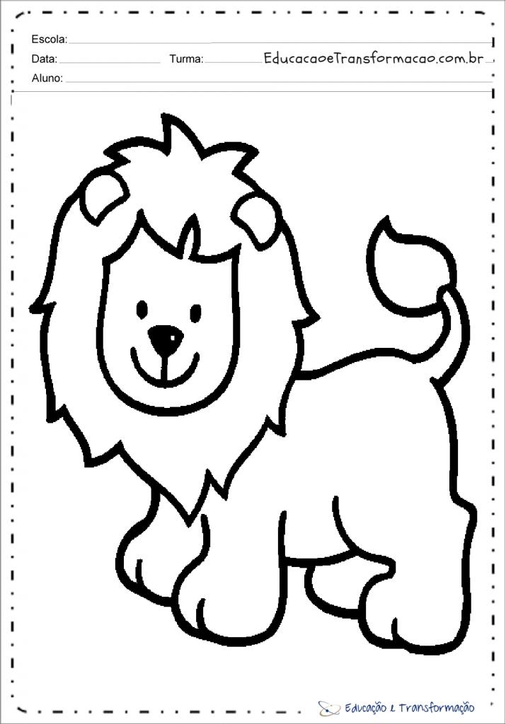 Desenhos De Leao Para Colorir E Imprimir Leaozinho Para Pintar