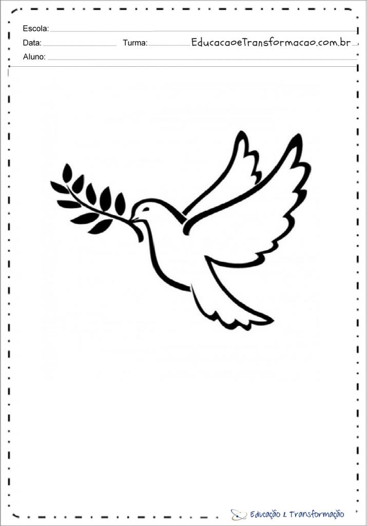 Desenhos De Pombas Para Colorir Pomba Da Paz Aliancas Espirito